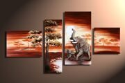 hand-painted-font-b-Grassland-b-font-African-elephant-High-Q-Home-Decoration-Modern-Landscape-Oil